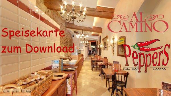 Speisekarte Peppers und Al Camino zum Download